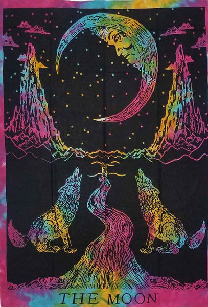The Goddess Of Moon Tapestry
