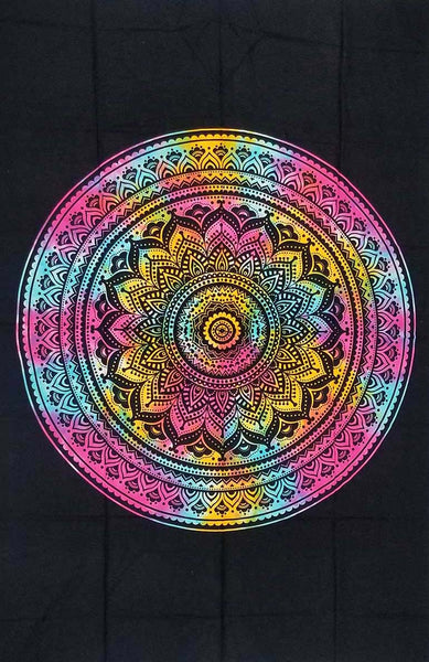 Circle Of Life With Mandala Tapestry