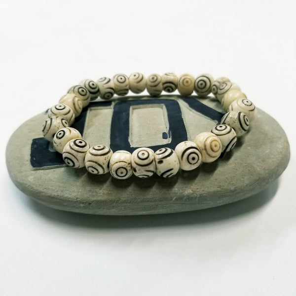Bracelat | Accessories |  Jewelry | Hand Carved Bone Bead Bracelet