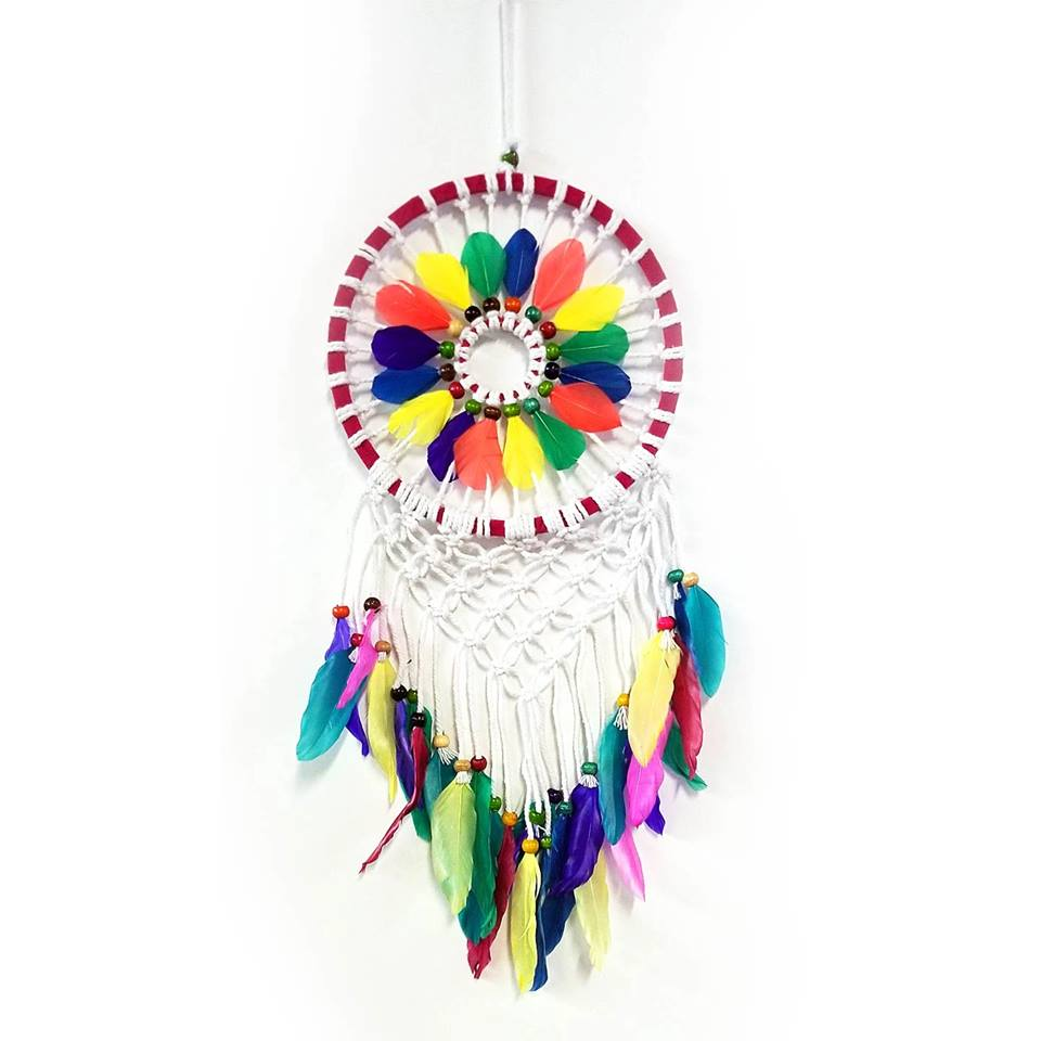 Dream Catchers | Home Decoration | Dream Catcher Rainbow Feather