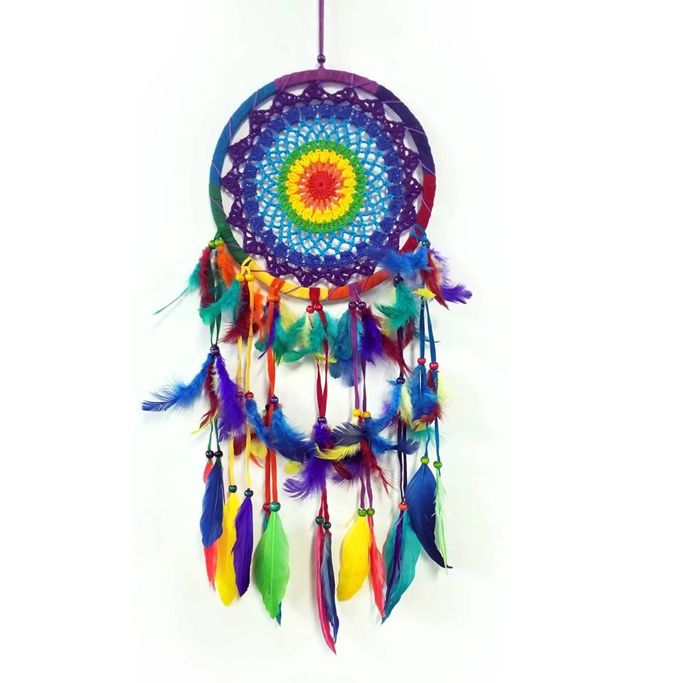Dream Catchers | Home Decoration | Dream Catcher Rainbow Feathers