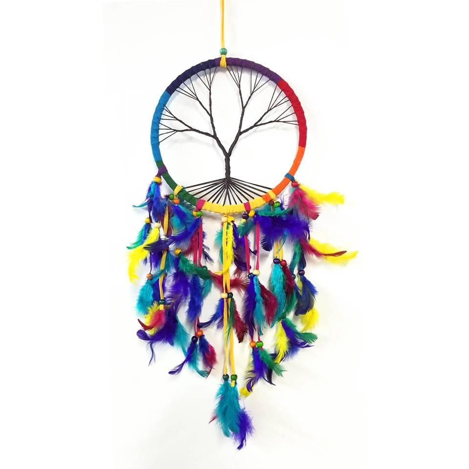 Dream Catchers | Home Decoration | Dream Catcher Rainbow Tree Of Life