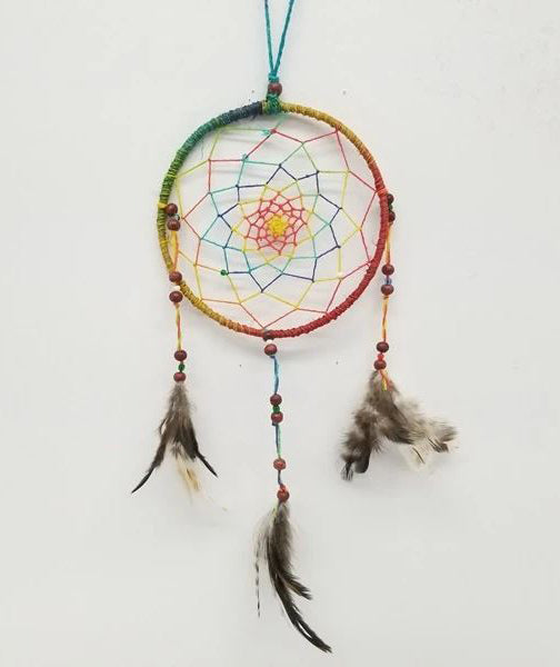Dream Catchers | Home Decoration | Dream Catcher Multi Colored With Feathers