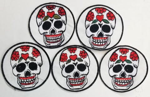 Skull Patches (Pack Of 5)