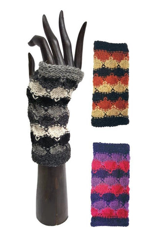 KNITTED HANDWARMERS WOOL FLEECE LINED