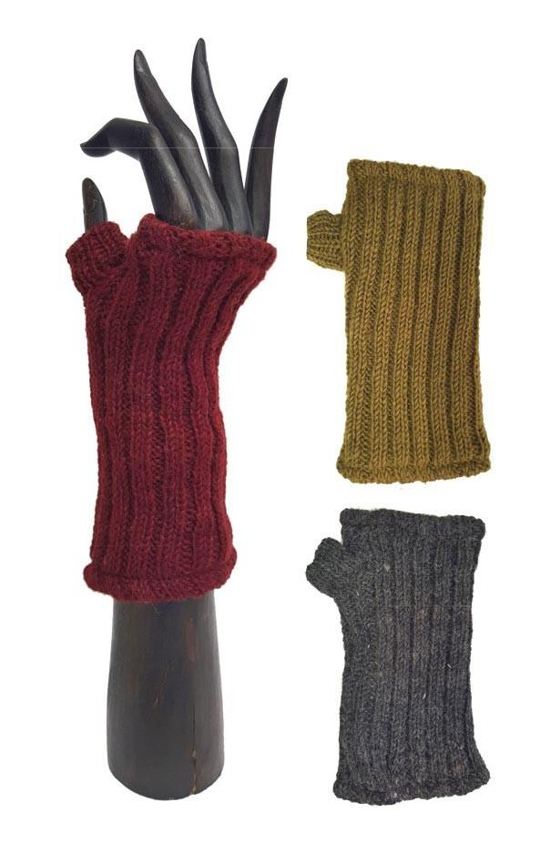 PLAIN HANDWARMERS WOOL FLEECE LINED