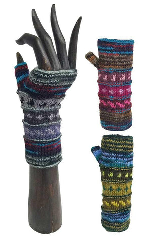 HANDWARMERS WOOL FLEECE LINED MULTICOLOR
