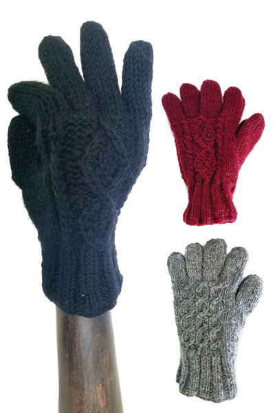 Wool Gloves Solid Color Hand Warmers