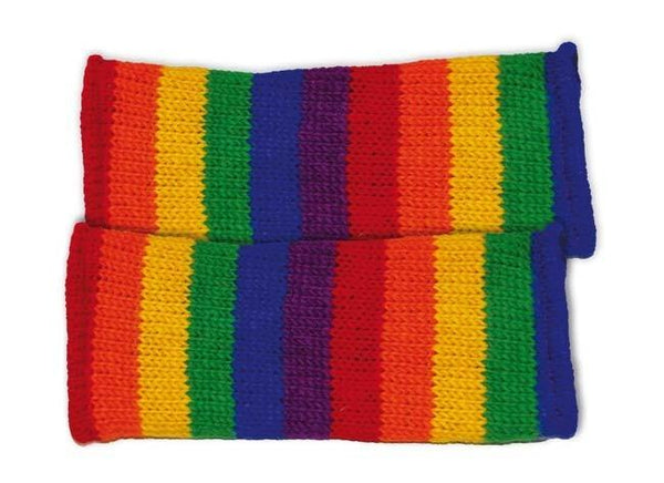 RAINBOW HANDWARMERS WOOL FLEECE LINED