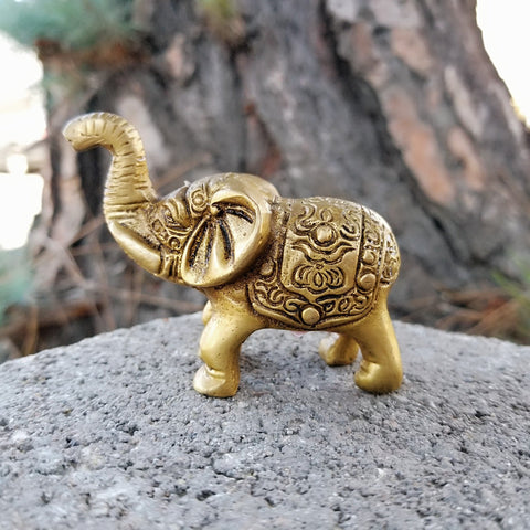 Statue | Home Decoration | Elephant Statue |  Brass Good Luck Elephant