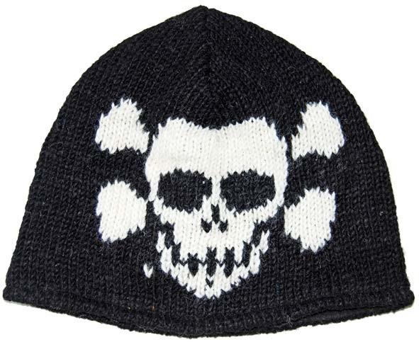 SKULL BEANIE WOOL FLEECE CAP HAT