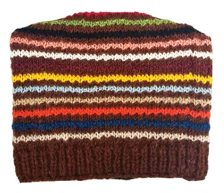 Striped Multi Color Hat