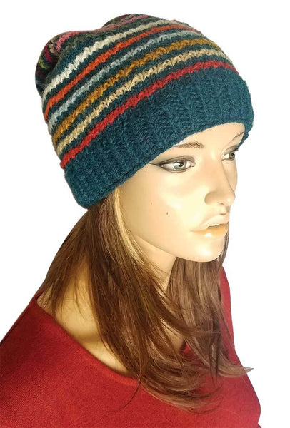 STRIPED MULTI-COLOR HAT
