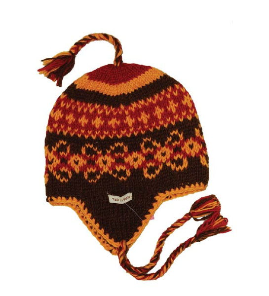 Multi Color Ear Flap Hat