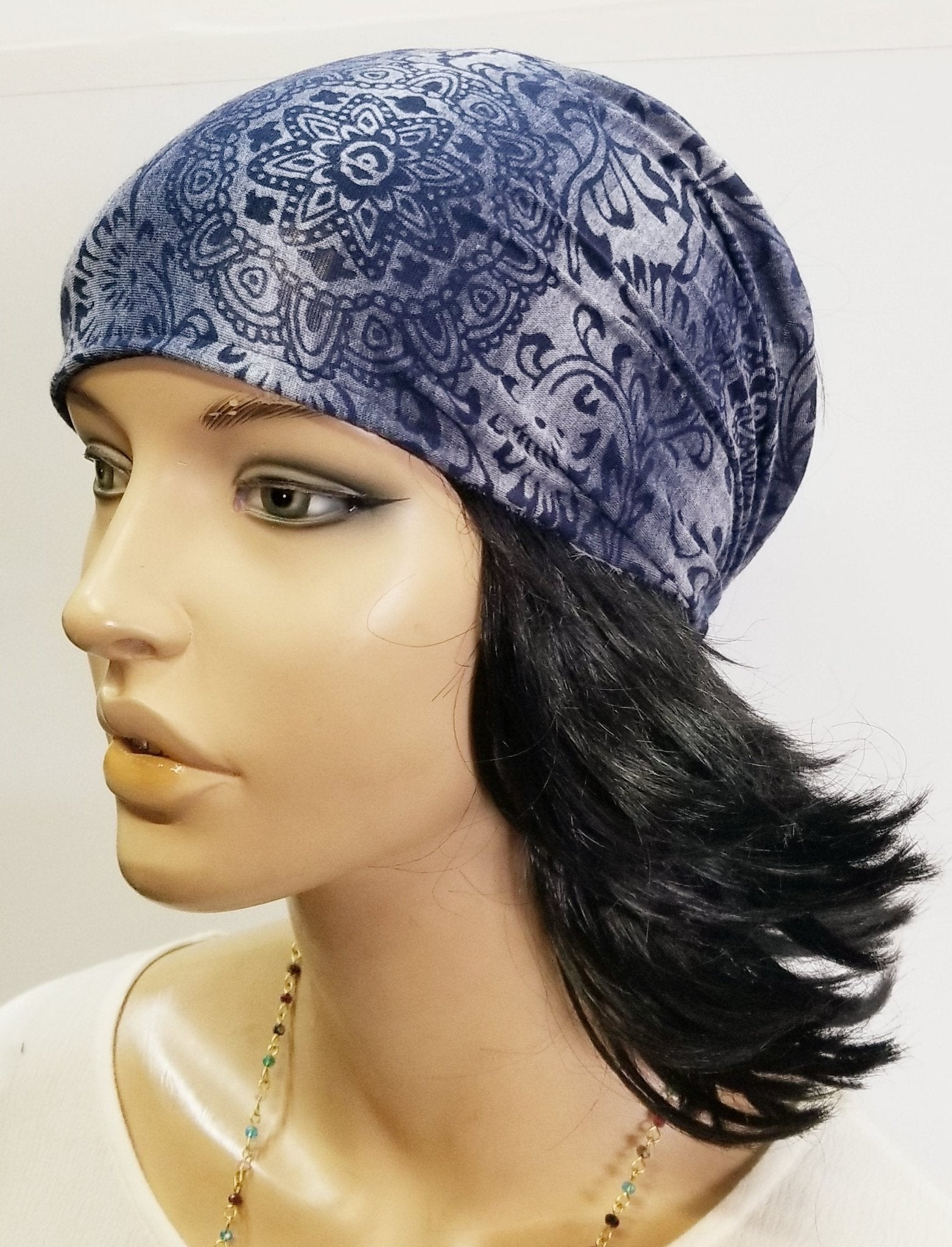 Head Band Paisley Burnout