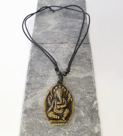 Accessories | Mala | Brass Ganesh Necklace Adjustable