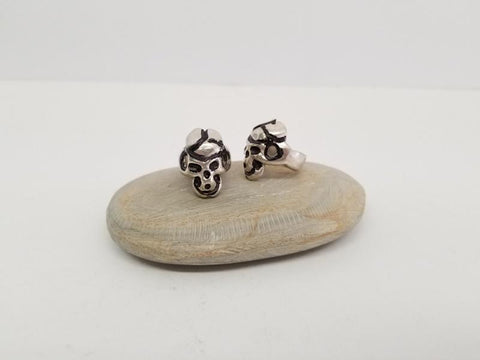 Skull White Metal Ring