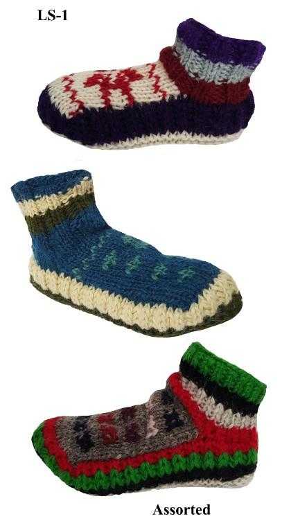 MULTICOLOR HOUSE SHOES/SOCKS