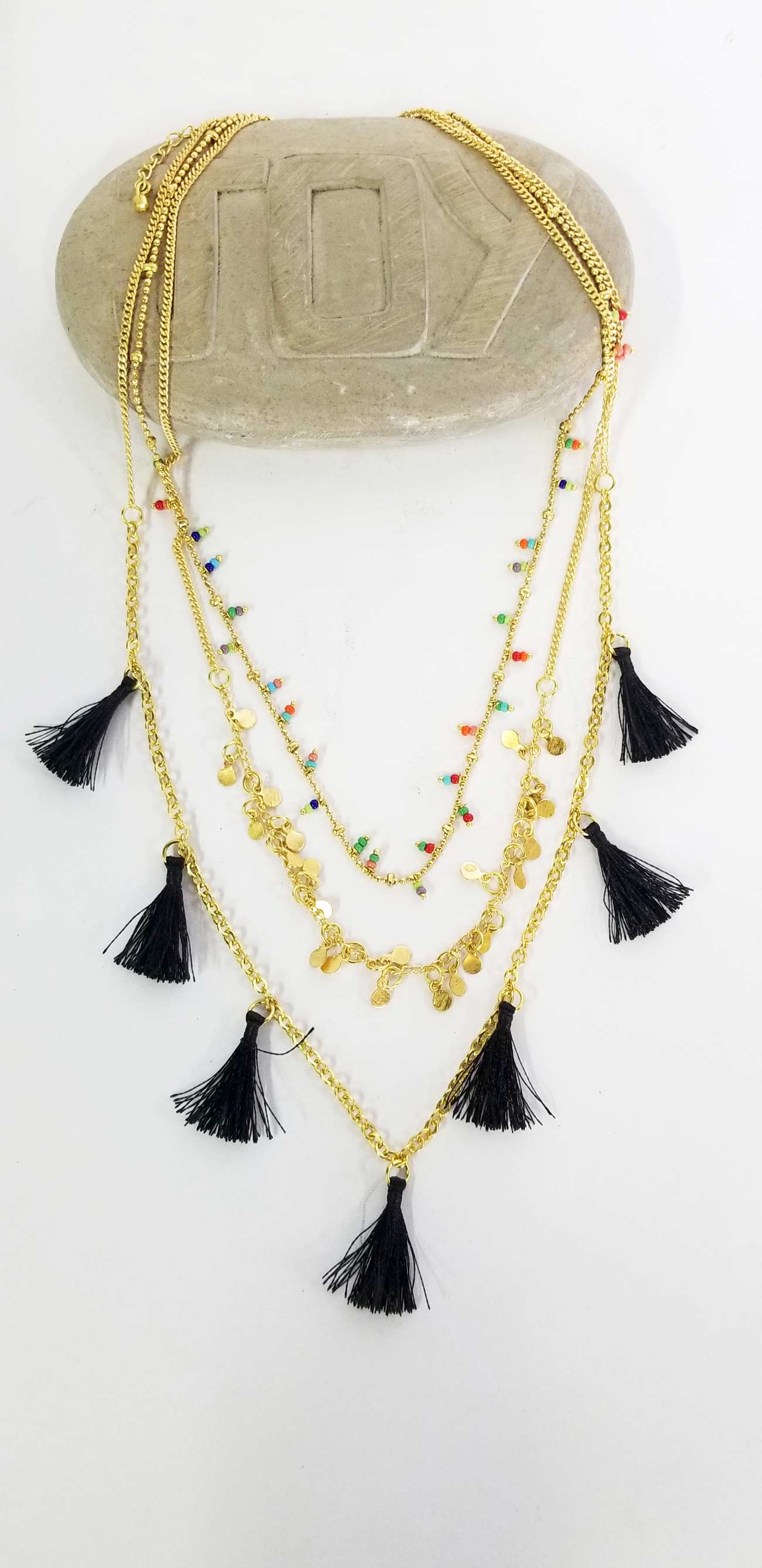Accessories | Mala | Necklace Three Layers Tassels