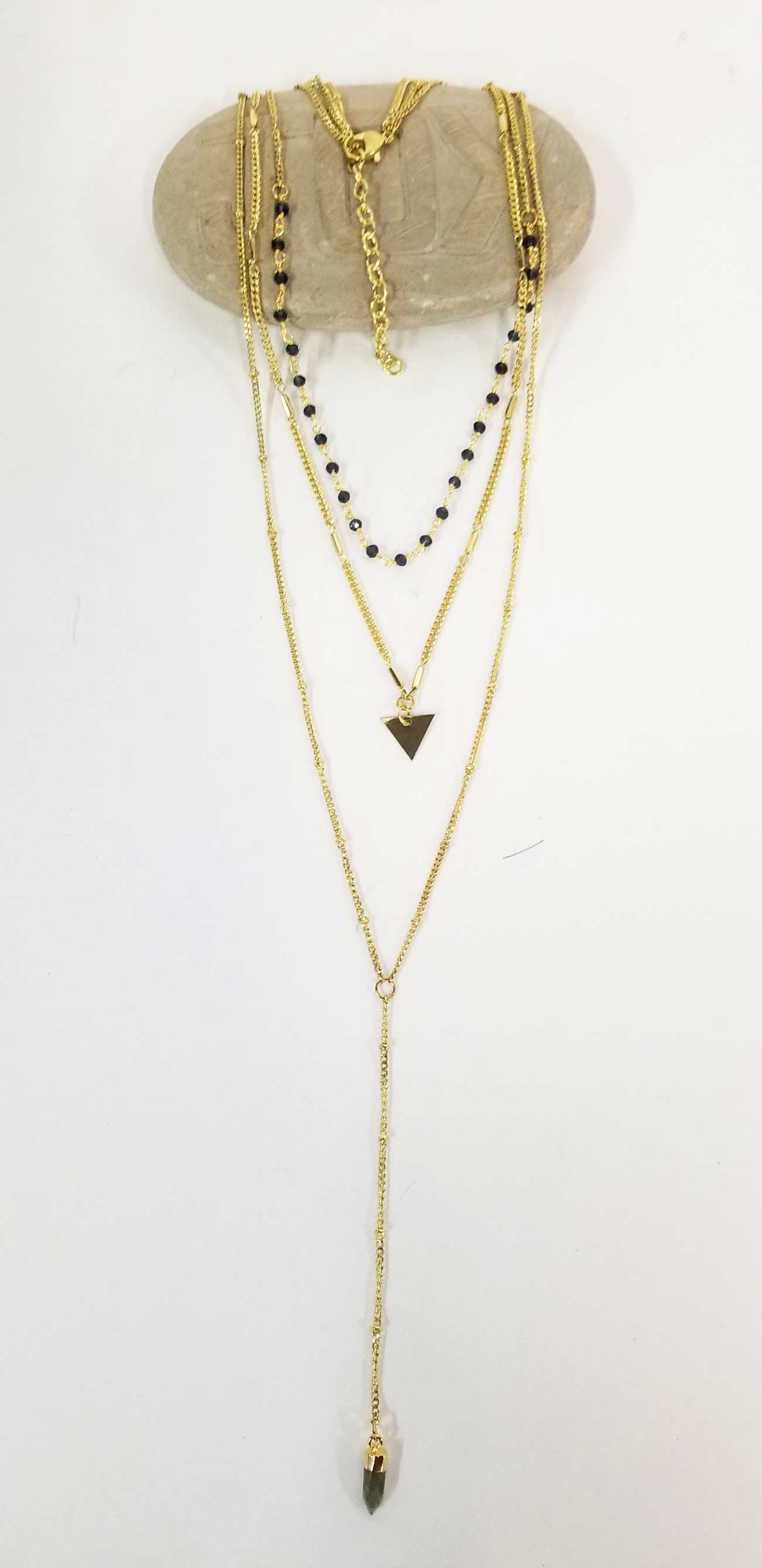 Necklace Three Leyers Triangle