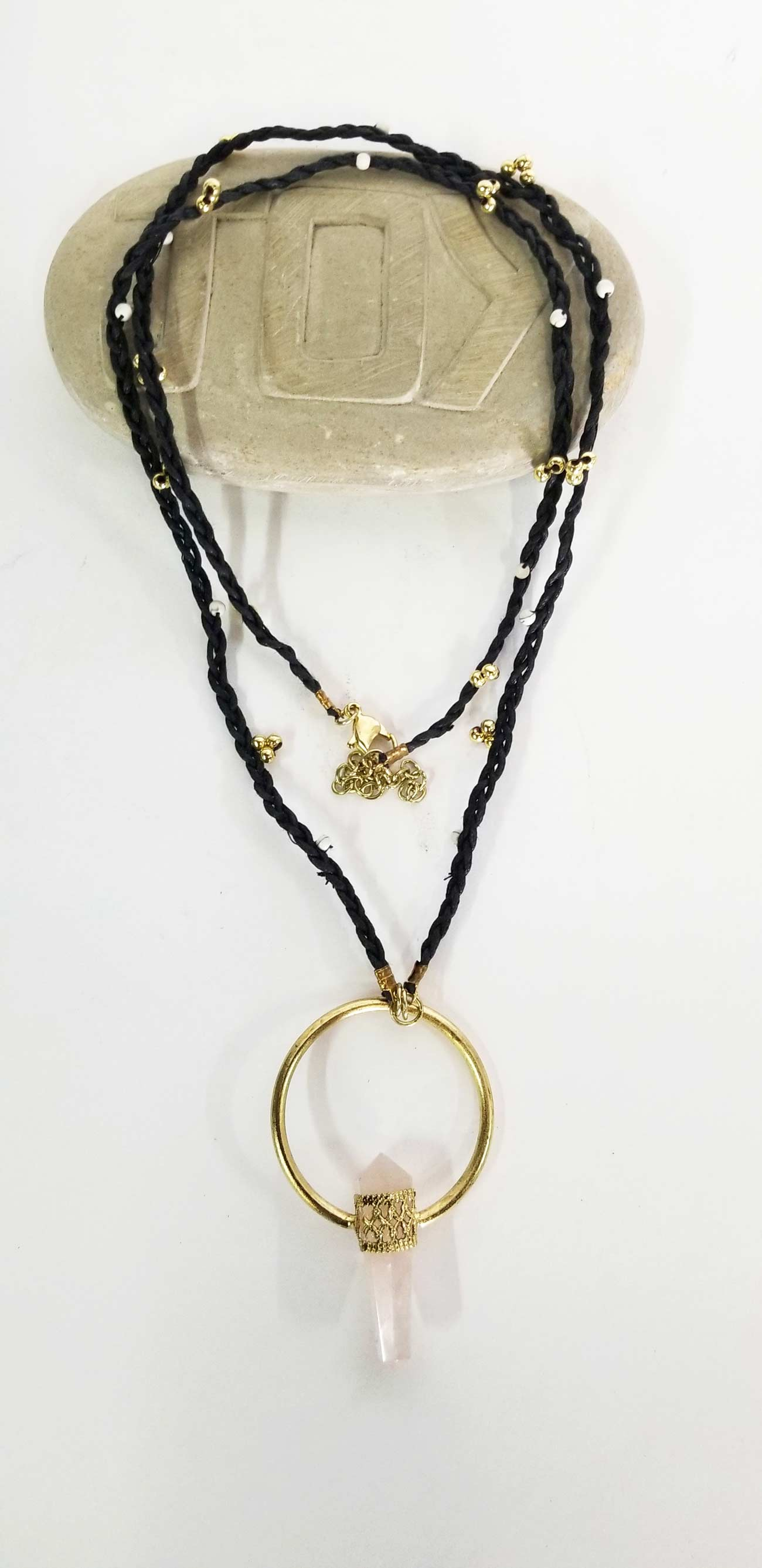 Accessories | Mala | Necklace Braided Rose Quartz
