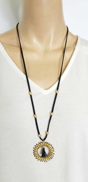 Neckace Leather Cord Tassel