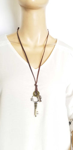 Good Luck Necklace Key Charm