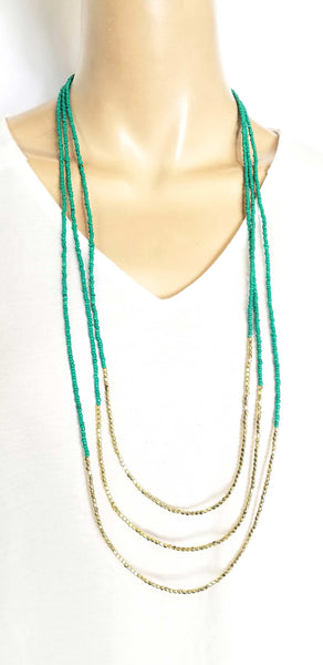 Accessories | Mala | Beaded Necklace Three Layers