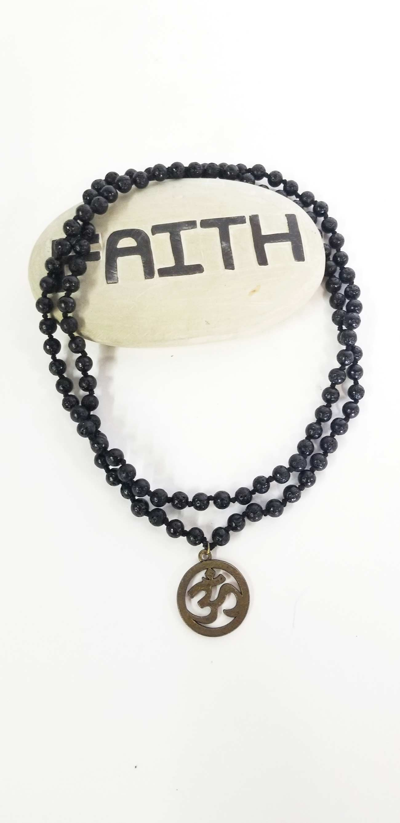 Accessories | Mala | Beaded Necklace Om Symbol