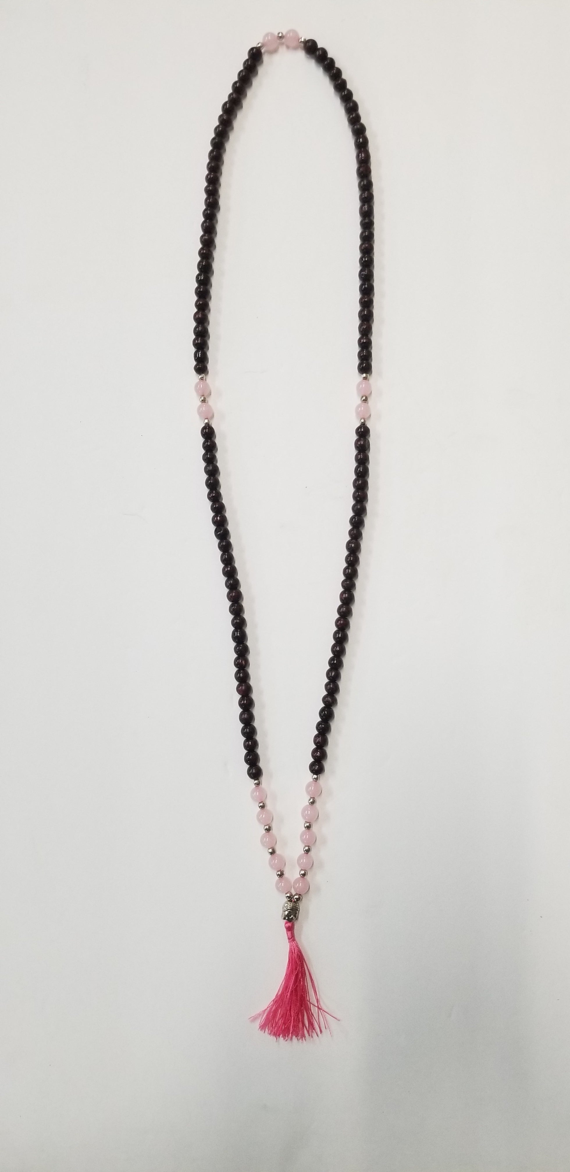 Beaded Tassel Mala Rose Quartz