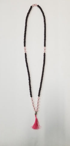 Accessories | Mala | Beaded Tassel Mala Rose Quartz