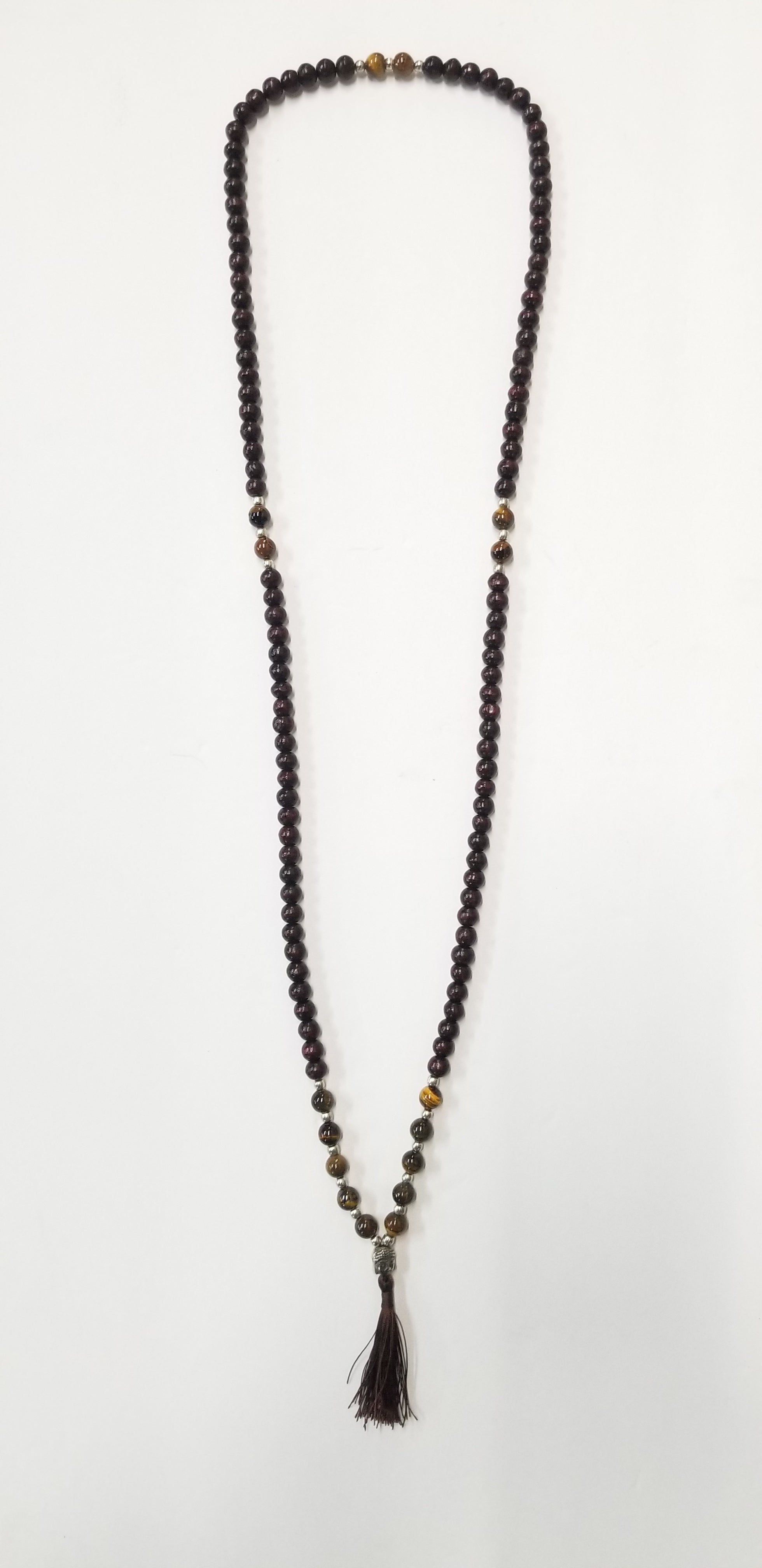 Beaded Tassel Mala Tiger's Eye