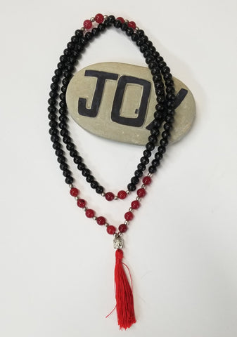 Accessories | Mala | Beaded Tassel Mala Onyx