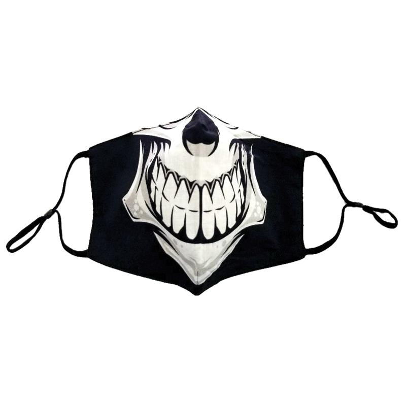 White Skull Face Mask Halloween Day of the Dead