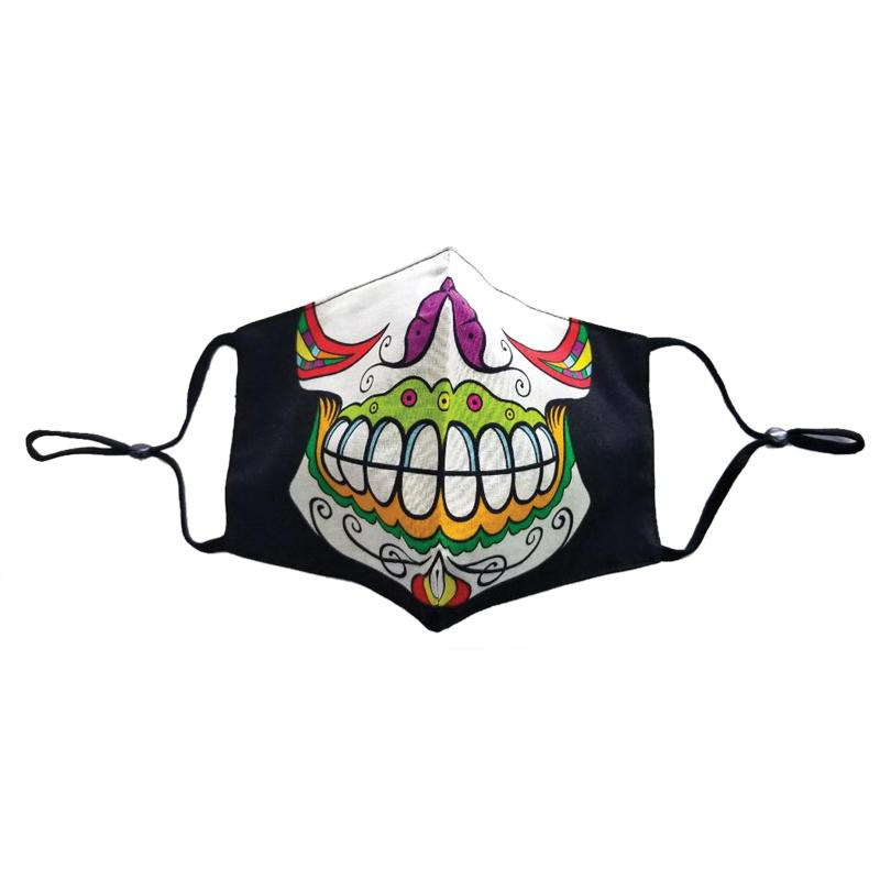 Black Face Mask Skull Halloween Day of the Dead