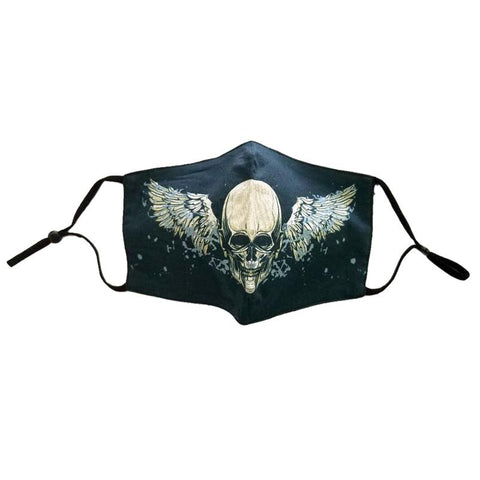 Face Mask Skull Wings Halloween Day of the Dead