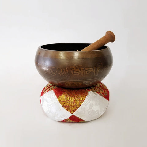 HAND CARVED TIBETAN SINGING BOWL