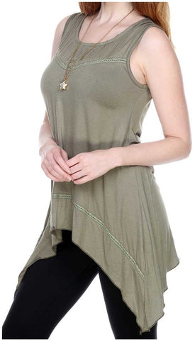 PLAIN COLOR EMBROIDERED TOP