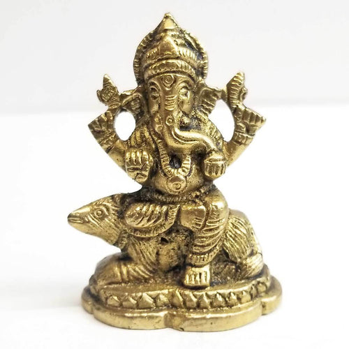 Statue | Home Decoration | Ganesh statue | Brass Blessing Ganesh Sitting In Mongoose
