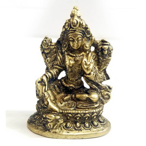Statue | Home Decoration | Green Tara Statue | Brass Green Tara