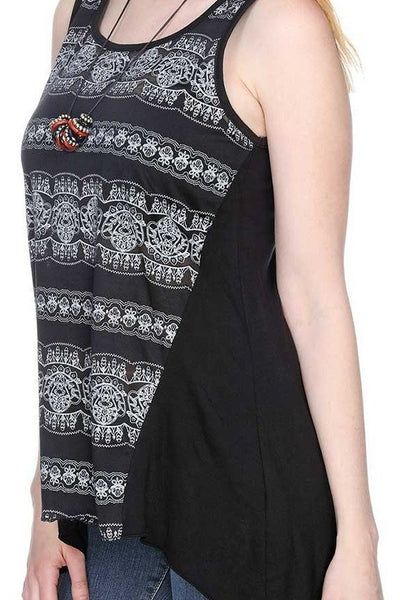 Burnout Print Tank Top