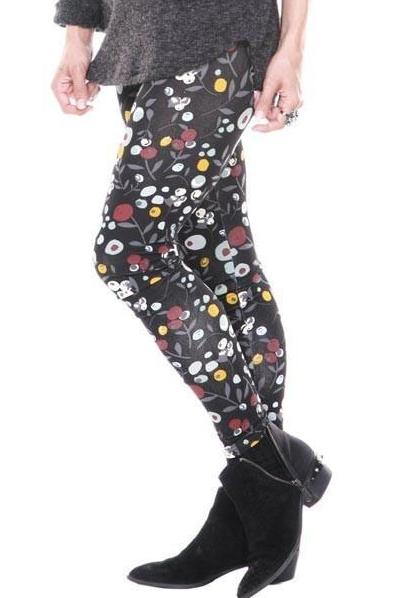 Leggings Multi Color Print Full Length