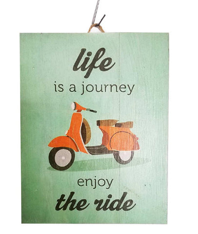 Home Decoration | Wall Hanging | Life Is A Journey...