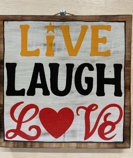 Home Decoration | Wall Hanging | Live Laugh Love