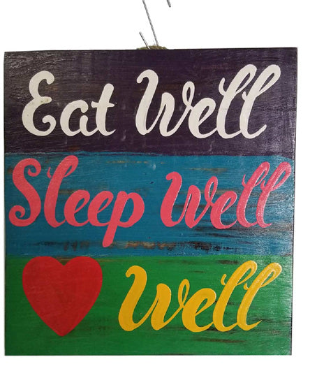 Home Decoration | Wall Hanging | Eat Well Sleep Well Love Well