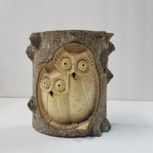 Statue | Home Decoration | Owl Wooden Carved Statue