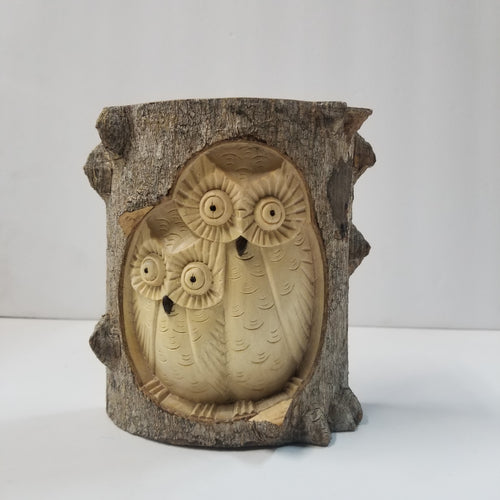 Owl Wooden Carved Statue
