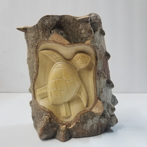 Turtle Wooden Carved Statue
