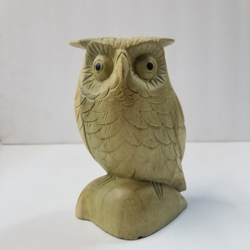 Owl Carved Wooden Statue