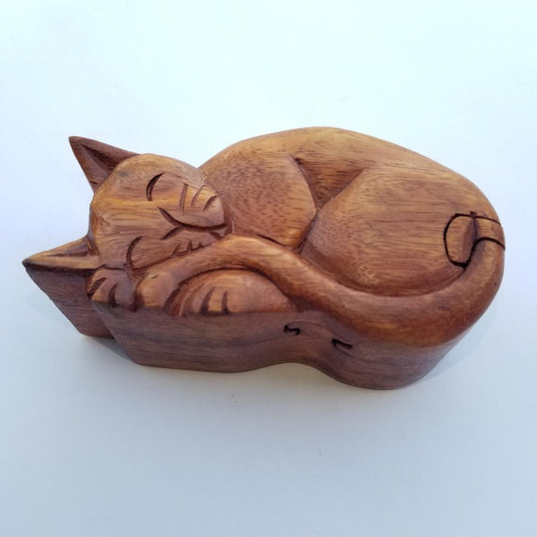 Cat Puzzle Wooden Box